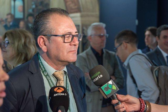El secretario general de Femepa, Juan Carlos Betancor, en un acto público