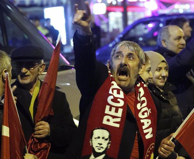 Manifestaciones en Rotterdam - Turquía