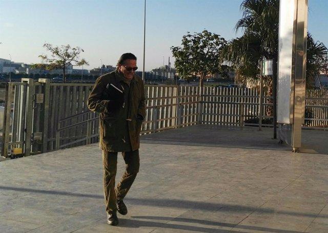 El exalcalde de Marbella Julián Muñoz entrando en la Ciudad de la Justicia