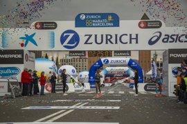 La etíope Bekele, con récord, y el paralímpico Kipkemoi, campeones de la Zurich Marató de Barcelona