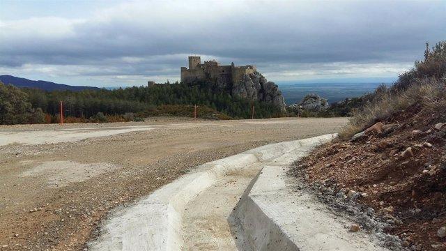 Mejora de la carretera de acceso al castillo de Loarre