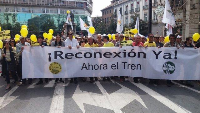 Manifestación ferroviaria de Granada