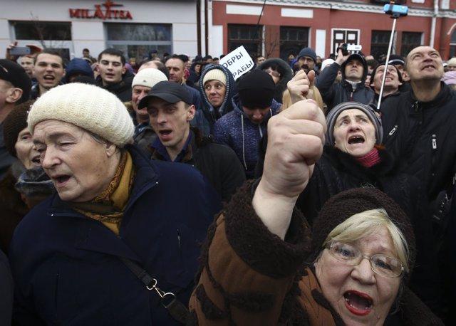 Manifestación en Bielorrusia