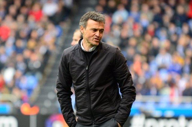 El entrenador del FC Barcelona, Luis Enrique