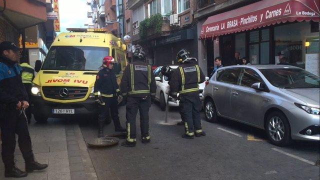 Atropello en la avenida de los Carabancheles de Alcorcón