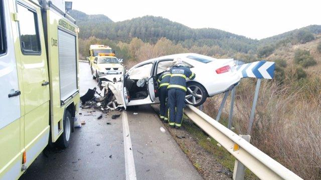 Bomberos: Accidente Tráfico Algodonales.