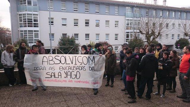 Protesta por el juicio a los ocupas de la sala Yago
