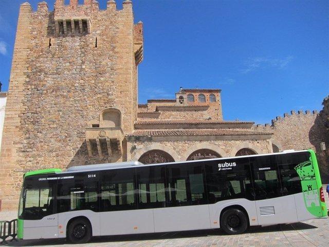 Autobús urbano en Cáceres