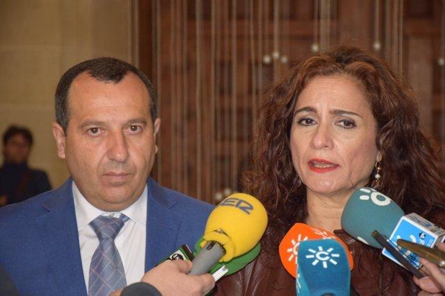 Delegado Junta Málaga, Ruiz Espejo, y la consejera Hacienda, M Jesus Montero