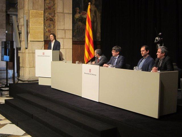 C.Puigdemont presenta el Plan integral de salud mental