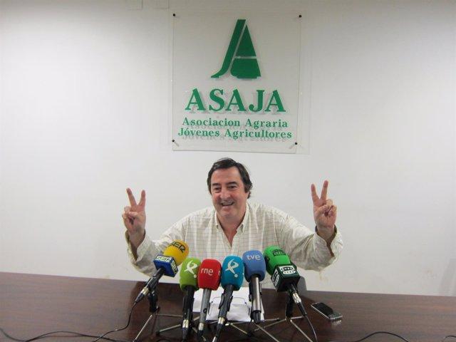 El presidente de Asaja Extremadura, Ángel García Blanco