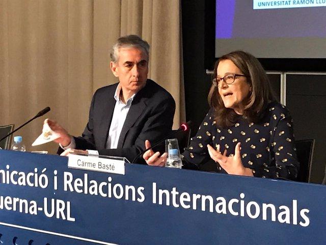 Ramon Jáuregui (PSOE) Carme Basté (vicedecana URL Blanquerna)