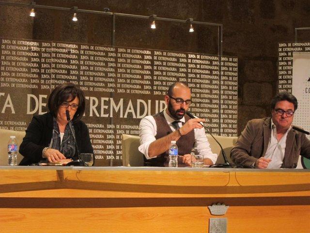 Sánchez, Calle y Carretero, en rueda de prensa