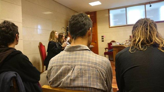 Juicio Okupación Sala Yago, en Santiago de Compostela