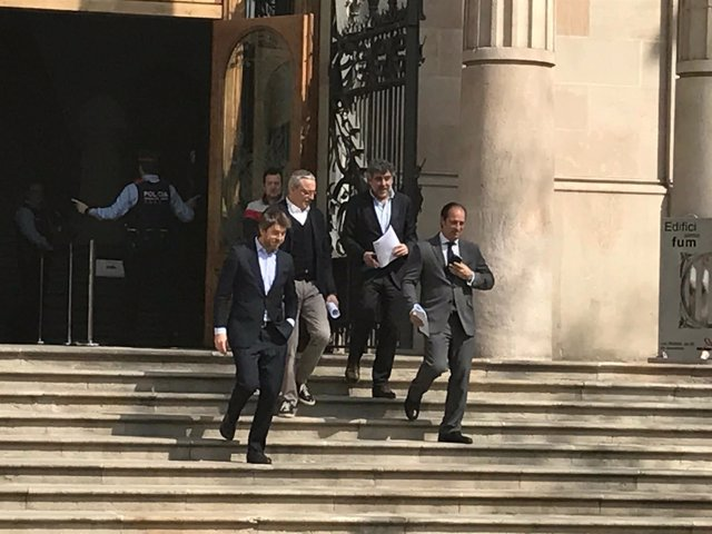 Los abogados de A.Mas, J.Ortega e I.Rigau por el 9N