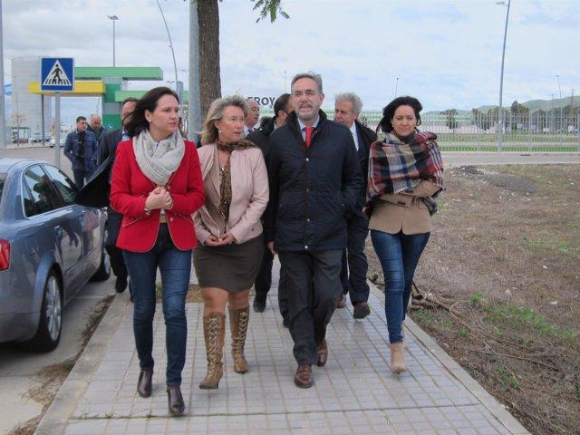Felipe López con otros responsables de la Junta en Córdoba