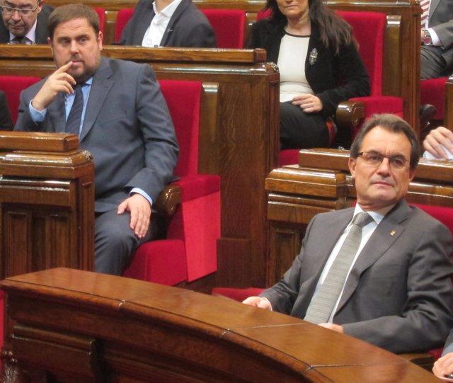 Oriol Junqueras y Artur Mas