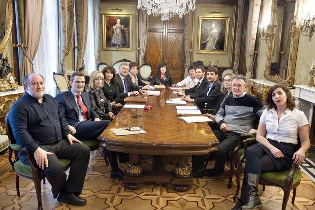Reunión del Consejo Navarro de Transparencia.