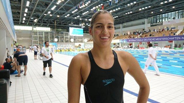 La nadadora española Michelle Alonso