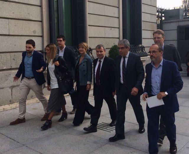 Francesc Homs, Carles Campuzano, Xordi Xuclà, Lourdes Ciuró