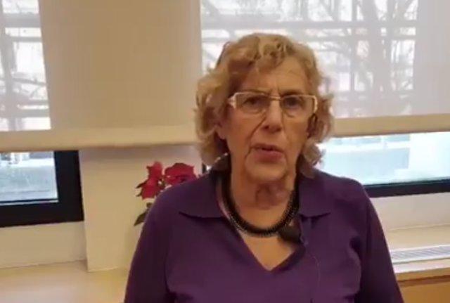 Imagen del vídeo explicativo de Carmena sobre el Plan A