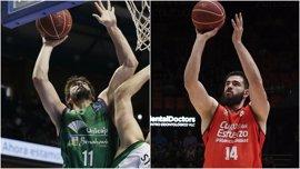 Valencia Basket y Unicaja inician su asalto a la final de la Eurocup