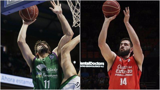 Unicaja y Valencia Basket, a por la final de la Eurocup