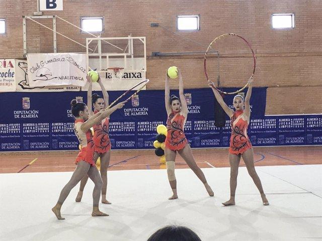El Pabellón de Deportes de Berja, sede del Encuentro de Gimnasia Rítmica.