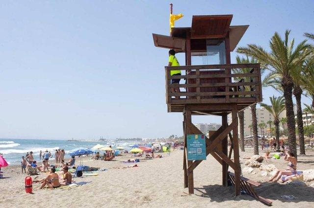 Torreta torremolinos málaga socorrismo salvamento socorrista playa salvamento