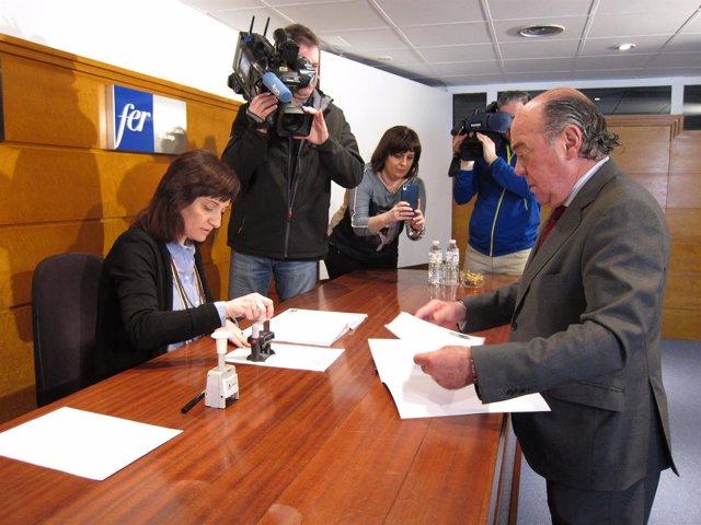 García-Calzada presenta los avales para ser reelegido presidente de la FER