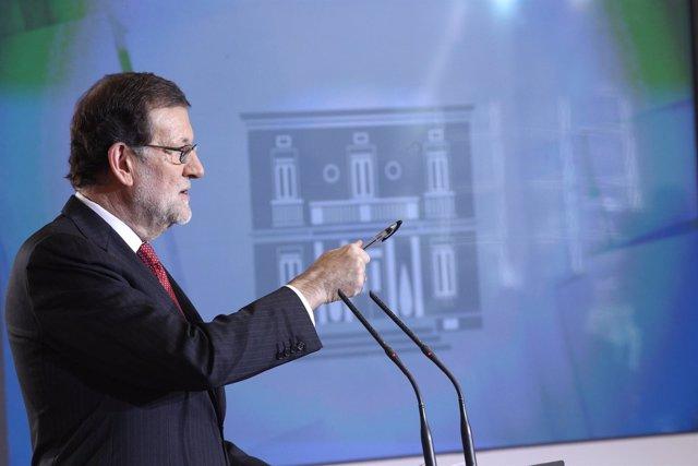 Rajoy comparece en la Moncloa