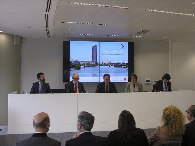 Espadas interviene en la Asamblea General del Círculo de Empresarios de Cartuja