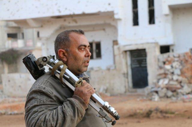 El periodista Mohamed Abazied, también conocido como George Samara