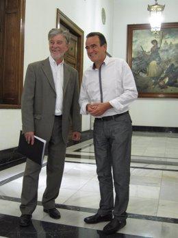 Pedro Santisteve y Juan Antonio Sánchez Quero, este viernes en la DPZ