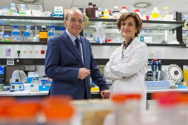 Jesús Prieto y Carmen Berasain.