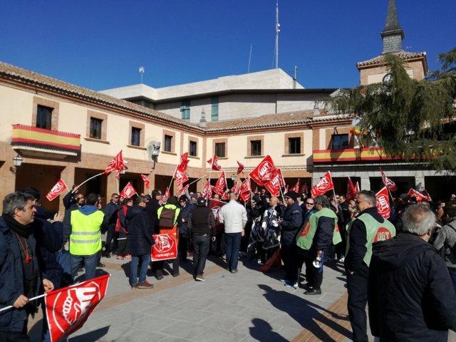 Concentración de trabajadores de Auto Periferia