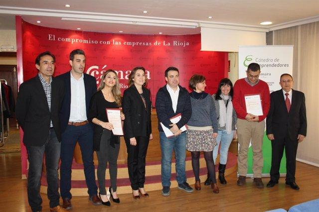 Imagen de la entrega de los premios