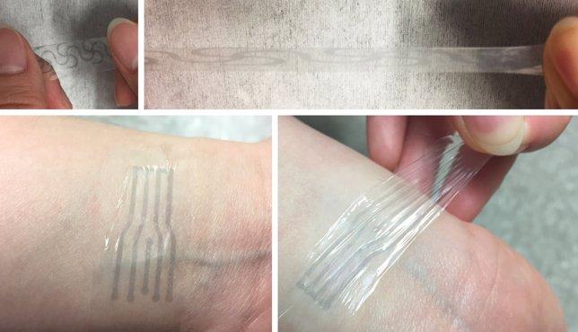 se produce un electrodo plástico flexible usando aditivo para sopa