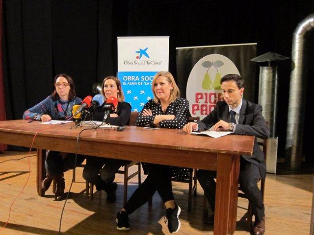 Salanueva, Olmedo, Redín y Moreno en la rueda  de prensa