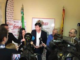 Marín (Cs) apoya a la Junta en su petición de que el Gobierno recupere el impuesto de sucesiones compensando a las CCAA