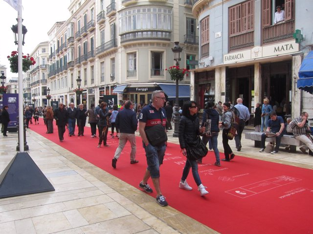 Turistas en el Festival de Cine Español de Málaga.