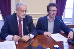 El Defensor del Pueblo andaluz con el alcalde de Cádiz