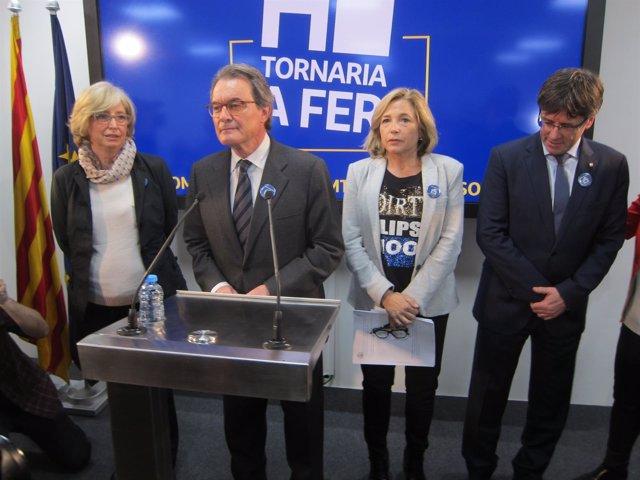 I.Rigau, A.Mas, J.Ortega y C.Puigdemont