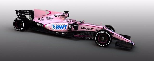 Nuevo coche rosa de Force India