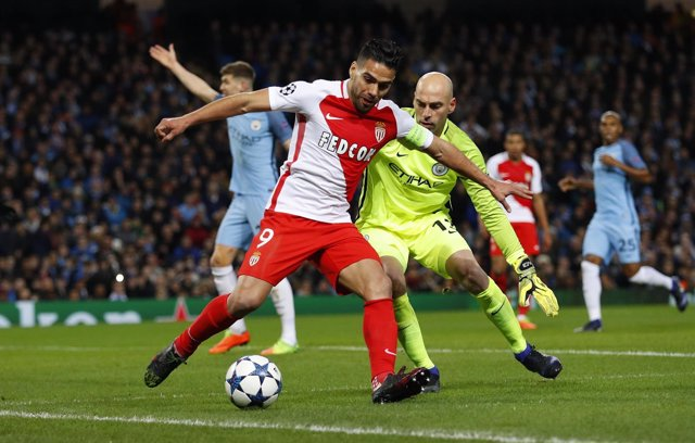 Falcao en el Manchester City - AS Monaco