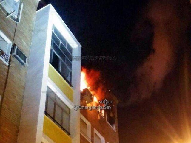 Incendio en Sevilla