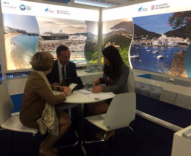 Puertos de la Generalitat se promociona en la Seatrade Cruise Global