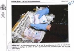 Dinero hallado en una caja del exdirector de Infraestructures.Cat