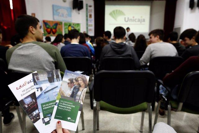Jornadas de Educación Financiera de Unicajas para estudiantes de Bachillerato