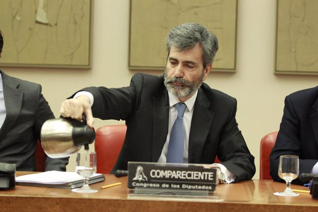 Carlos Lesmes, presidente del Tribunal Supremo, comparece en el Congreso